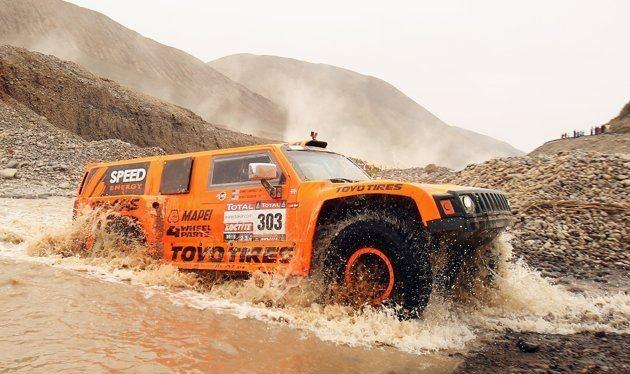 Robby Gordon in the 2012 Dakar Rally