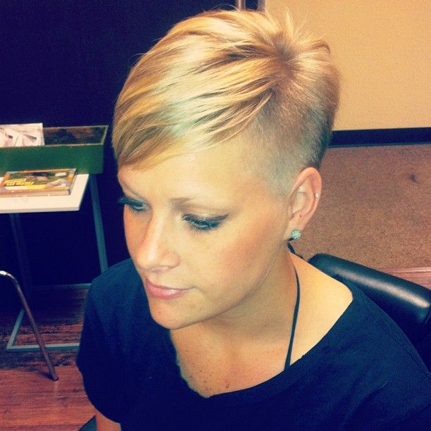 This is the cut that I am going for now.  Growing out the bangs a little and still nice and short everywhere else.  Love it!!