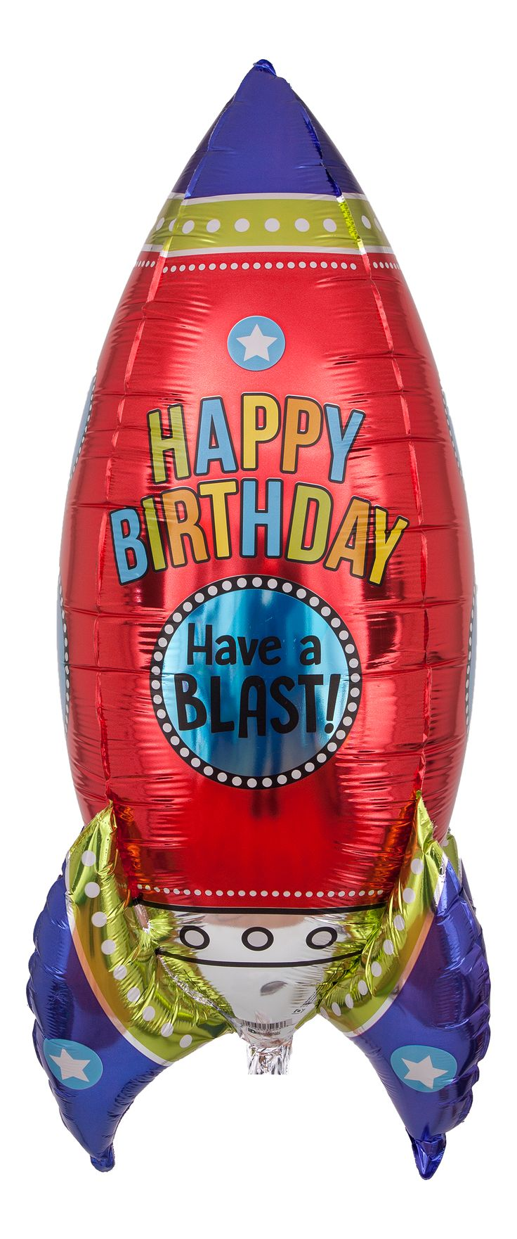 "Happy Birthday Ballon ""Rakete - Have a Blast!"""