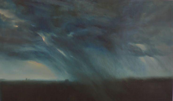 Herman Levente: Falls the Rain - 2013 - 250x150cm - olaj, vászon / oil on canvas
