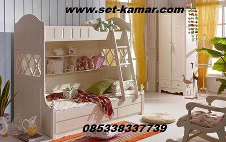 Kasur Tingkat Harga Murah dengan 3 Laci di bagian bawah produck By Furniture…
