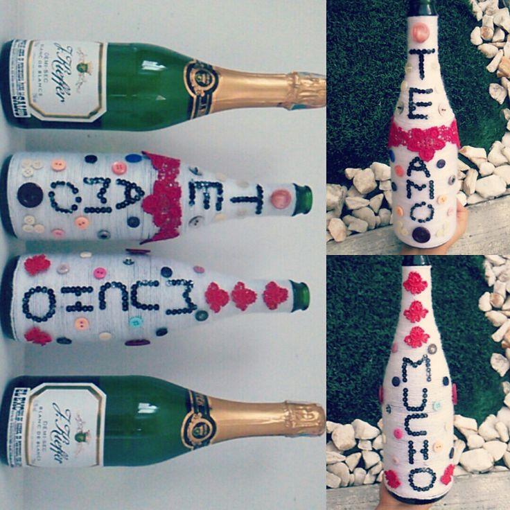 Día de la Madre  #Botellas Regalo manualidades para regalos