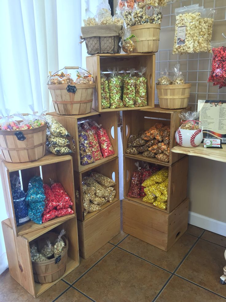 Our retail popcorn display                                                                                                                                                                                 More