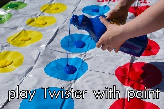 Play a game of Messy Twister. | The Couples Bucket List You'll Actually Want To Do