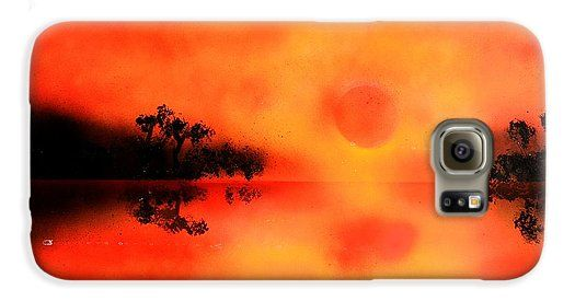 Joy Of The Sun Galaxy S6 Case Printed with Fine Art spray painting image Joy Of The Sun by Nandor Molnar (When you visit the Shop, change the orientation, background color and image size as you wish)