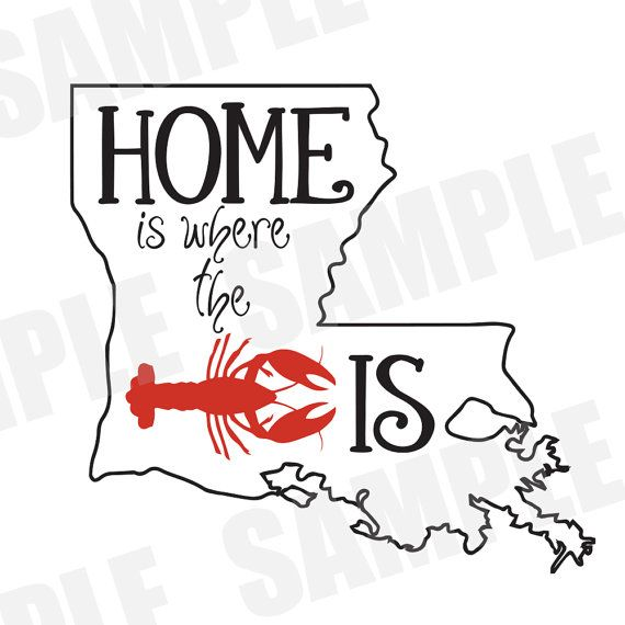 ****DIGITAL DOWNLOAD***** SVG DXF file for Silhouette Cameo. Home is where the crawfish is, crawfish shirt