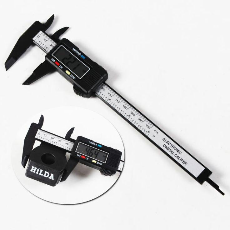 1 sztuk Carbon Fiber Composite 6 cal 150mm Linijki Vernier Suwmiarka Cyfrowa Elektroniczna Kolor Losowo