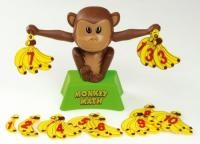 Monkey Math  Count the monkeys bananas  Monkey Math makes addition fun! Just hang an equal number of bananas on   each of the monkeys hands.If youve done your addition correctly, the monkey   will look straight ahead and his arms will be level. If the numbers are not equal,   his eyes will be crossed and his arms will be up and down. Height: 18 cm  List Price: R299.99