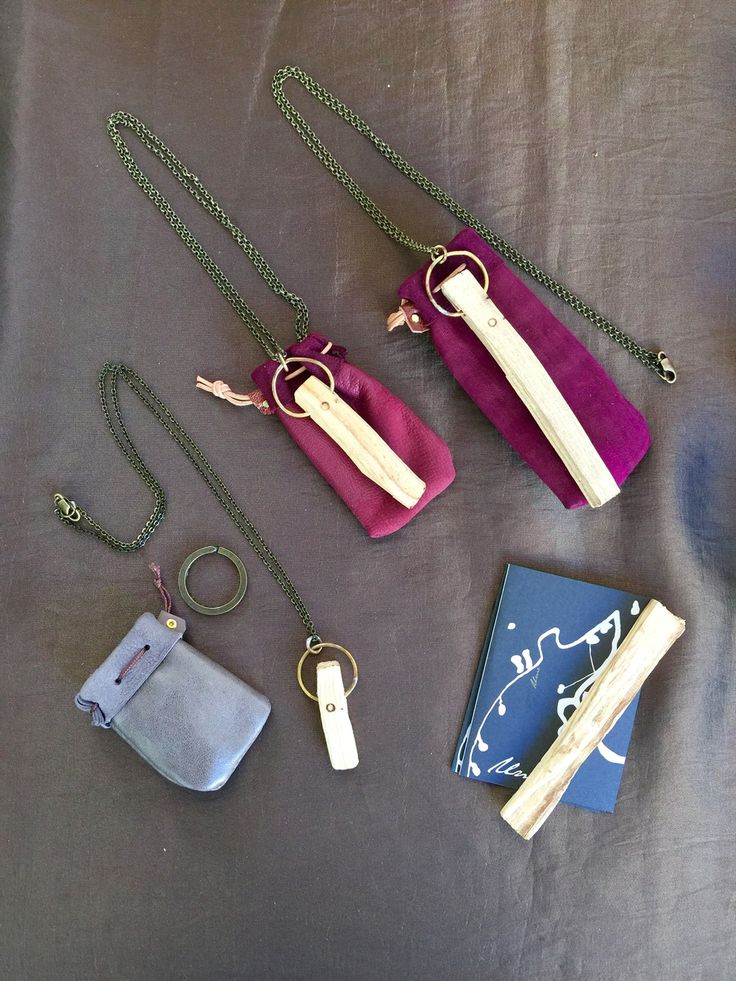 ichienso and ume incense collaboration - palo santo pendants