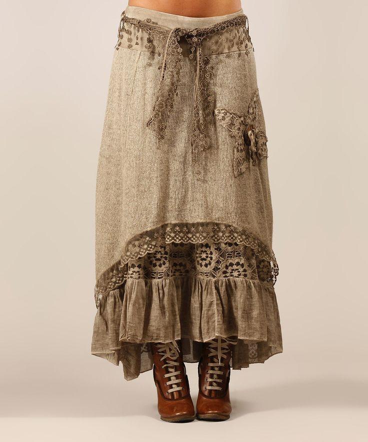 Charlotte&Louis Beige Kelly Wool-Blend Skirt | zulily