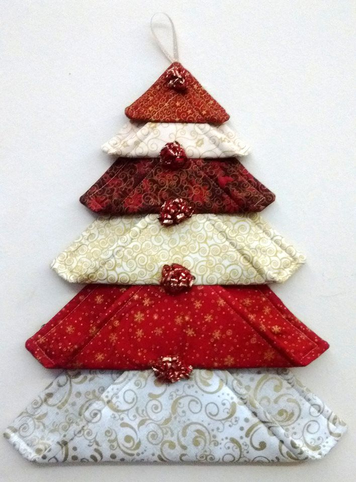 Marvelous Christmas Fabric Craft Ideas Part - 3: Xmas Tree With Padded Sqs + Other Easy Lovelies!
