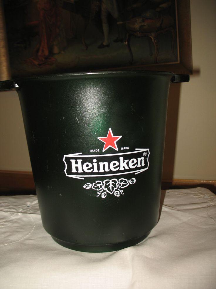 Vintage sceaux a glace refroidisseur de la bière Heineken 1996 de la boutique NorDass sur Etsy