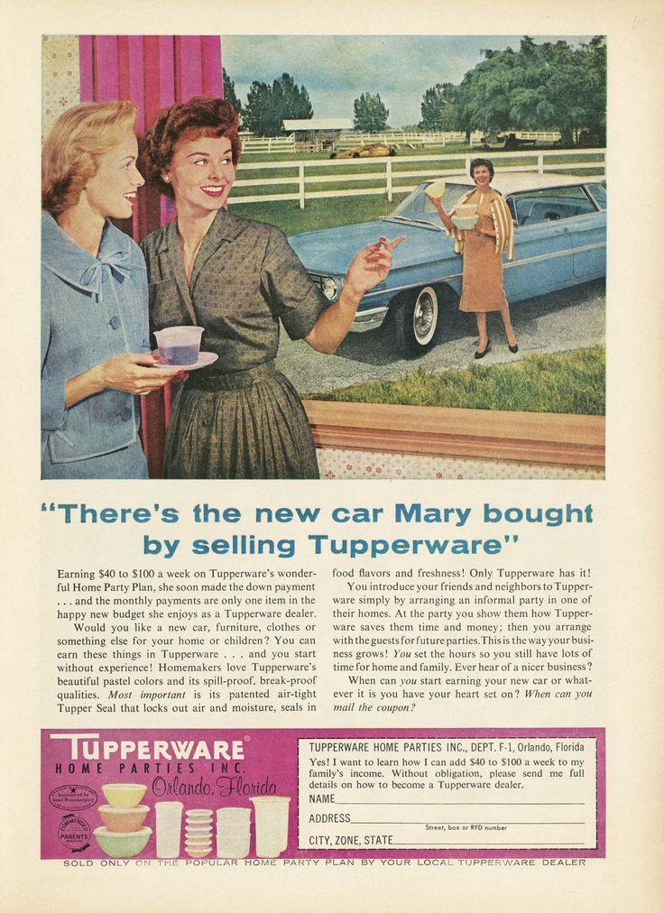 Advertisement Tupperware Home Parties,  magazine unknown, 1960  © Gemeentemuseum, The Hague