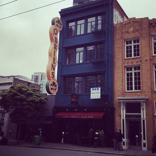 Kate O'Brien's in San Francisco, CA, the pub pops always talked about