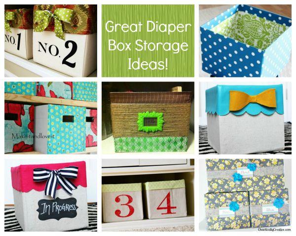Diaper Box Storage Bins An Organized Life Pinterest Diaper