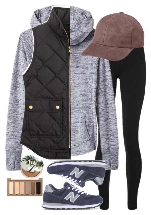 """""""Wrkin out"""" by preppygirlusa ❤ liked on Polyvore featuring Sweaty Betty, Athleta, J.Crew, New Balance, Vianel and Urban Decay"""
