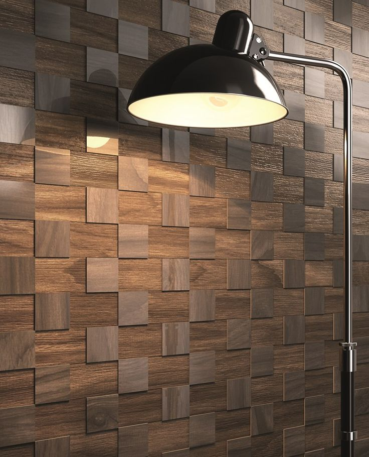Porcelain stoneware 3D Wall #Mosaic DUTCH by CERAMICA SANT'AGOSTINO #wood @sant_agostino