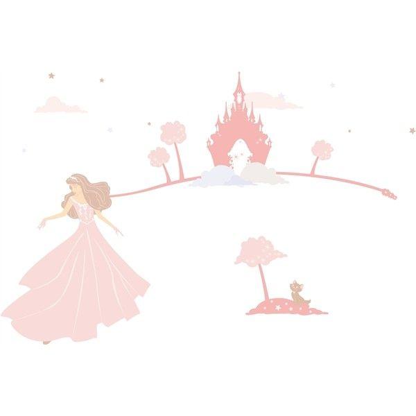 Décoration de chambre fille - Stickers enfant Lili Pouce Rêves de princesse rose