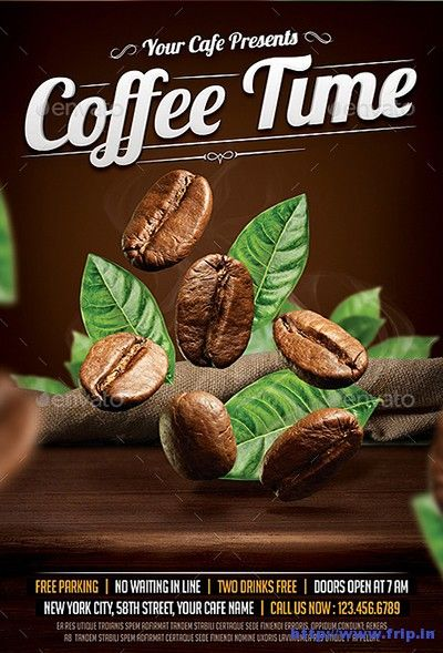 30 best Coffee advertising images on Pinterest Advertising - coffee shop brochure template