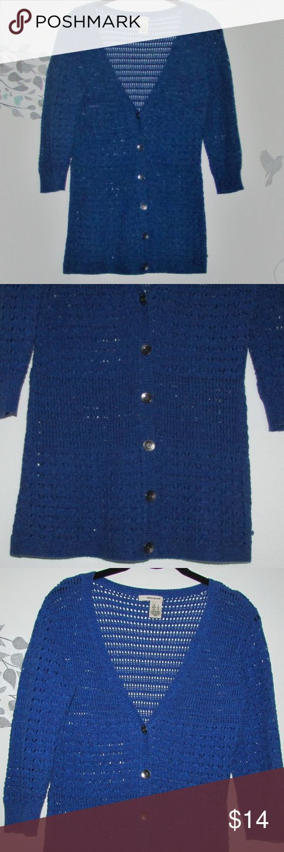 DKNY Open Knit Sweater. Button Front. Beautiful open knit sweater. Like new. DKNY Sweaters Cardigans