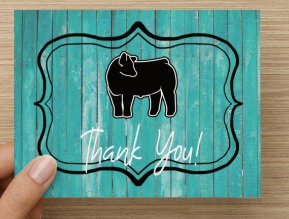 Show Steer Thank You Cards For Ffa Or 4 H Projects Cattle Etsy Thank You Cards Show Cattle Your Cards