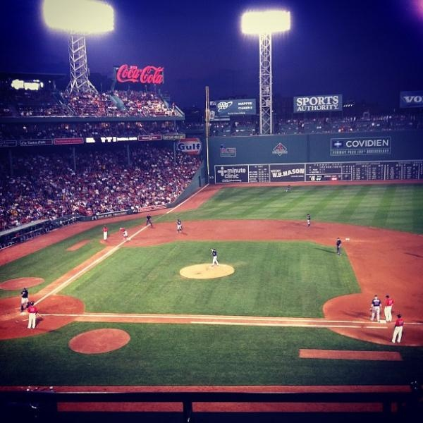 Red Sox vs. Twins game tonight from Fenway Park! Tons of photos here: http://www.outpic.com/performer/1a17d022-afc5-49a8-8a48-a877cd4f4709    Who is your favorite MLB team?    If you like baseball, please Repin this photo! Photo by myrandadunlea