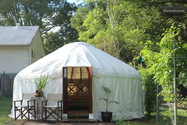 Yurt stay! Outside view ... cute :)