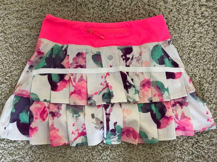 Lululemon Women s SZ 2 Reg Pacesetter Skirt Skort Blurred Blossom Pink Floral | eBay