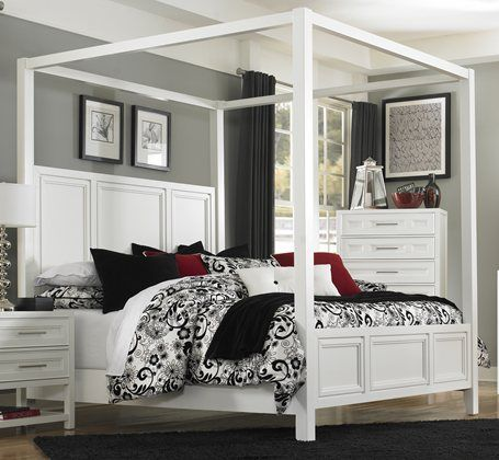 Clearwater White Queen Canopy Bed Favorites Pinterest Canopy Beds Queen  Canopy Bed And Furniture