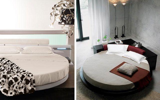   Camas redondas para la decoración de dormitorios