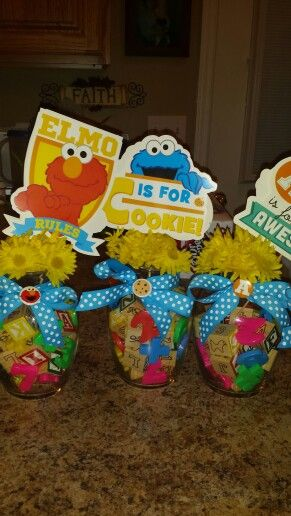 Sesame Street Centerpieces For Baby Shower Or Birthday!