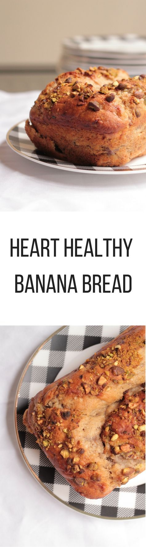 Heart Healthy Banana bread is low in saturated fat and sodium, rich in potassium and a source of fiber and plant stanols shown to reduce blood cholesterol levels.