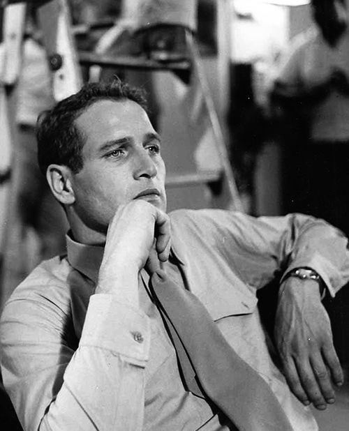 Paul Newman on the set of The Young Philadelphians (1959)