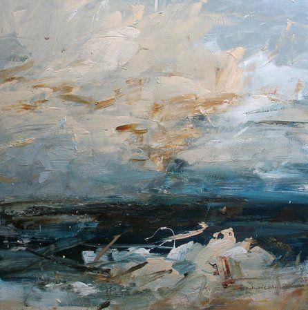 Louise Balaam,  Golden Air and Salt Spray  Oil on Canvas 31 1/2 x 31 1/2 in