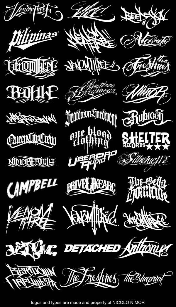 LOGOS AND TYPES by mrchugchug | Art and Design | Graffiti lettering ...