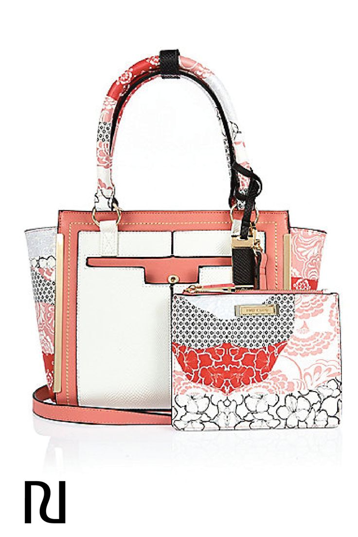 What's hot for spring 2016? Pretty prints and floral patterns. Grab onto this trendy pink mini tote bag and fill it up with all your warm weather essentials, all season now. Shop it for just $70 from River Island.