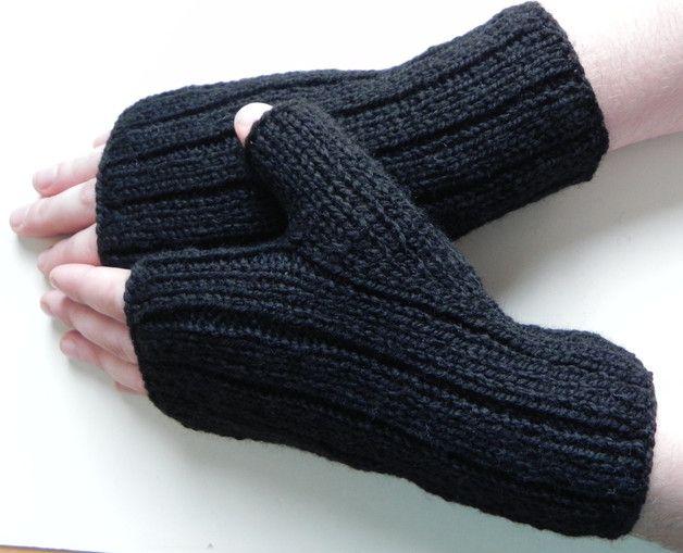Męskie mitenki rękawiczki bez palców - YellowMleczyk - Mitenki