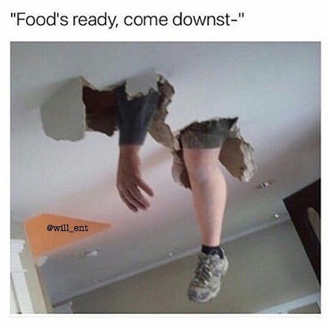 I did this at camp peniel  one time cause I was hiding in the attic and stood on a tile haha, yeet.