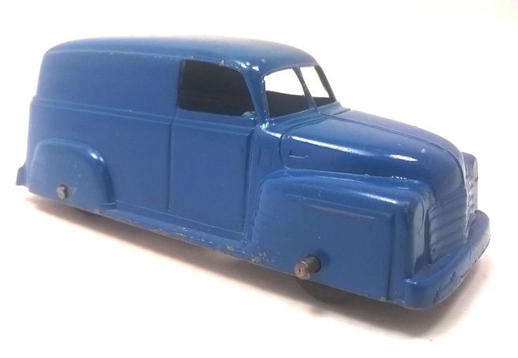 Vintage TOOTSIETOY Diecast Toy Delivery Truck Blue Antique Made In USA ORIGINAL #TootsieToy