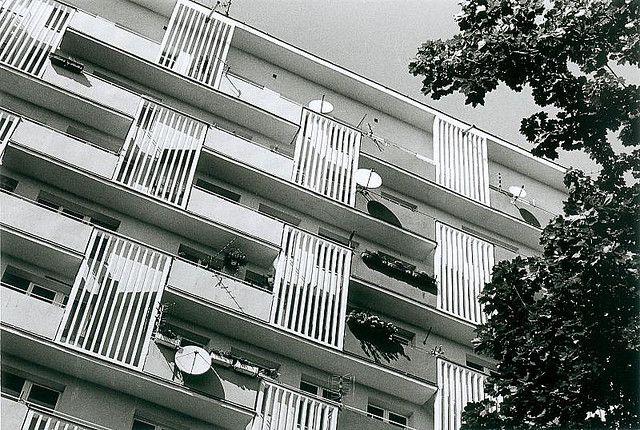 block of flats, Opole (PL), late 50's (foto Leszek Golubiński via flickr)
