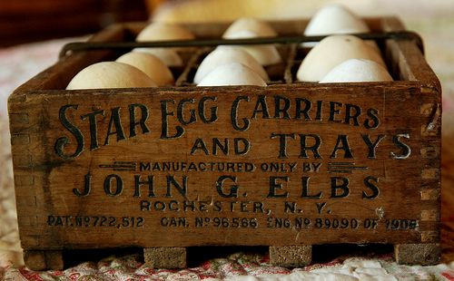 antique egg carrier - I just bought one of these in Grand Forks, ND, at the Plain and Fancy Antique Mall on March 22, 2013.