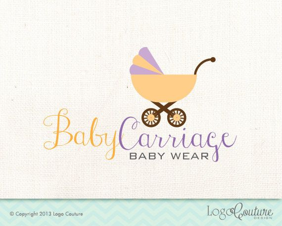 Premade Baby Wear Logo - Custom Logo - Baby Carriage - Baby Clothing Store - Logo for Baby Cloths