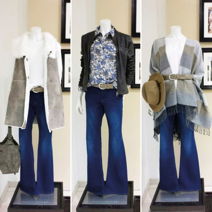 How to wear #FLAREDJEANS: Flared Jeans: s.Oliver - Longweste in Lederoptik mit Fake Fur: s.Oliver - Blusentop mit Spitze: Opus - Gürtel: Schuchard & Friese - Tasche: Cinque - Bluse mit 70s Print: s.Oliver - Bikerjacke aus softem Ziegenleder: Marc O'Polo - Fransen-Poncho: Comma Collection - Blusentop mit Spitze & Hut: Opus #fashion #stylingtutorial