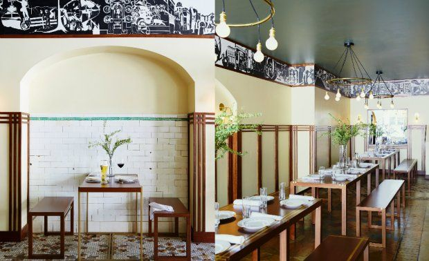 Faust, a German restaurant at the newly opened Dean Hotel in Providence, Rhode Island.