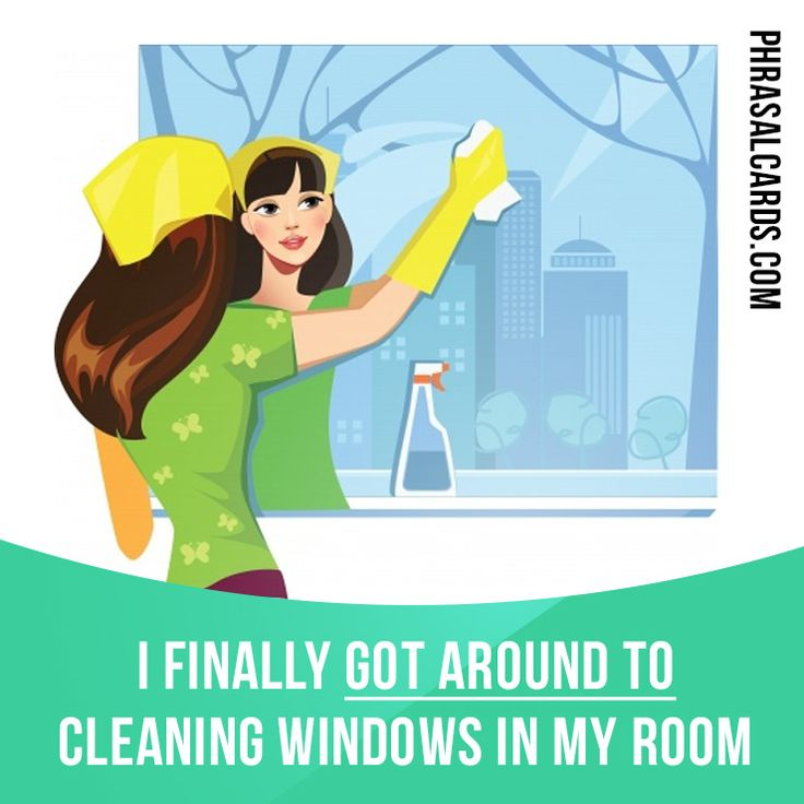 """Get around to"" means ""to finally manage to do something"". Example: I finally got a round to cleaning windows in my room. #phrasalverb #phrasalverbs #phrasal #verb #verbs #phrase #phrases #expression #expressions #english #englishlanguage #learnenglish #studyenglish #language #vocabulary #dictionary #grammar #efl #esl #tesl #tefl #toefl #ielts #toeic #englishlearning"