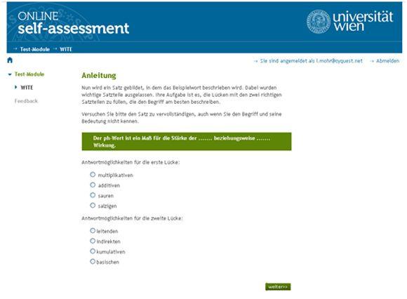 Fit für ein Studium an der Fakultät für Lebenswissenschaften der Uni Wien? Das Online-SelfAssessment gibt Aufschluss