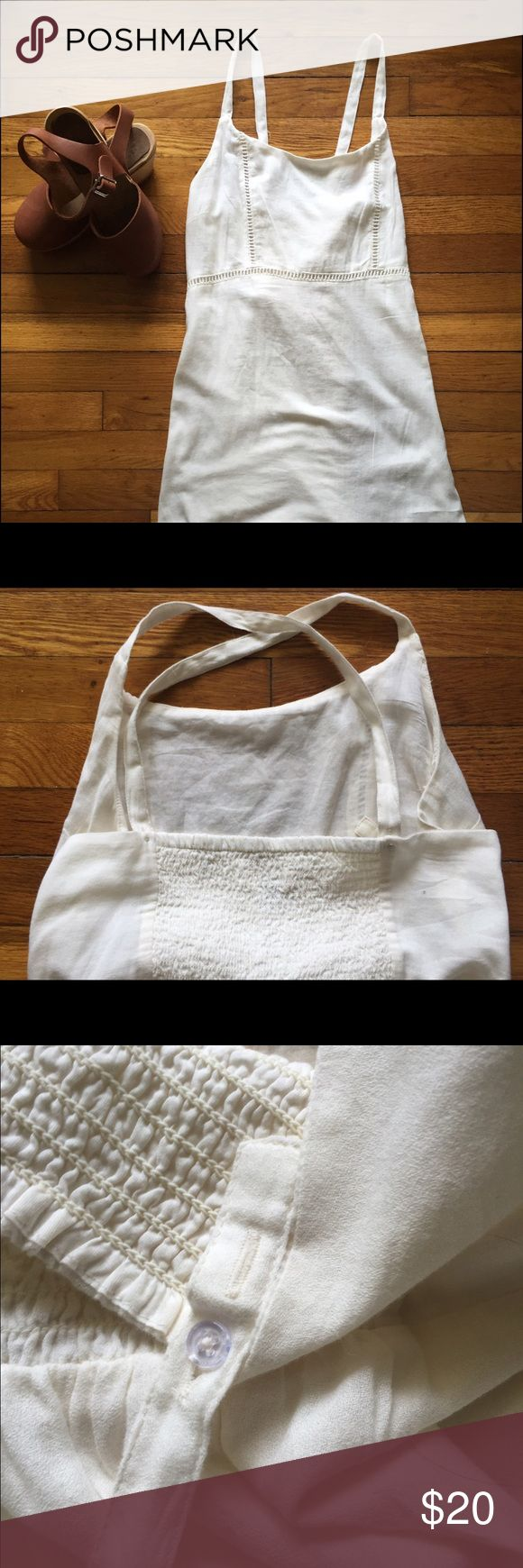 Brand new with tag, white summer dress This dress is brand new with tags. The straps are adjustable so they can be cross-crossed in the back. It is very login weight and comfortable, excellent for those hot summer cookouts or night out on the town. Price is negotiable Old Navy Dresses