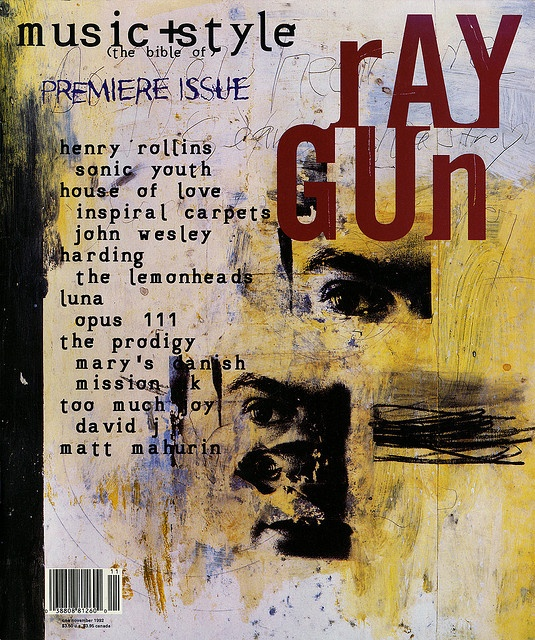 """cMag561 - Ray Gun Magazine cover """"Henry Rollins"""" by David Carson / Issue 1 / November 1992"""