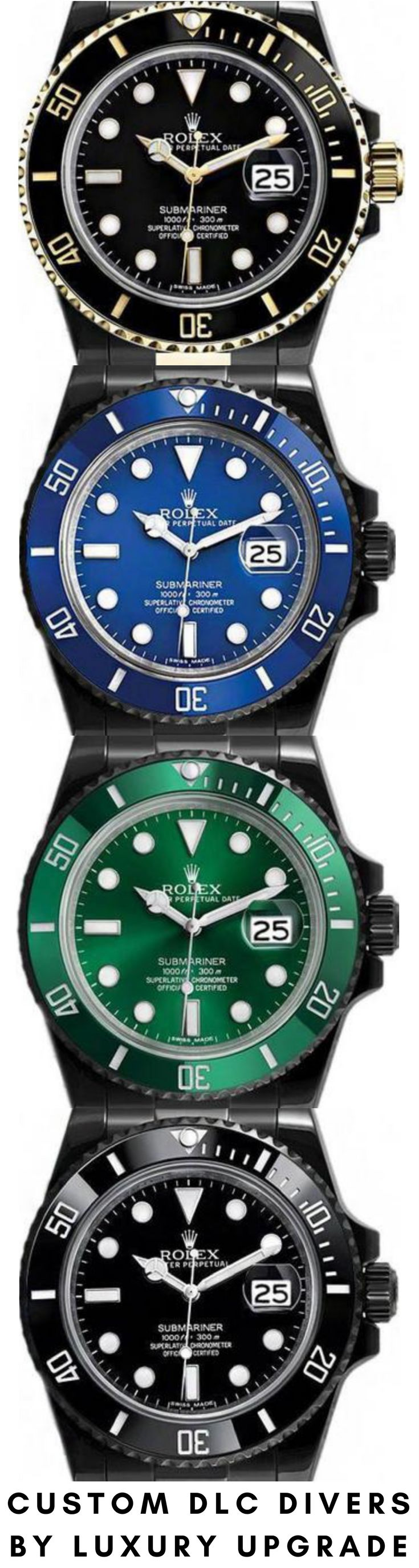 rolex dlc sports pinterest submariner watch luxury on black hirofumiokawa prayer images green dive watches best custom coating