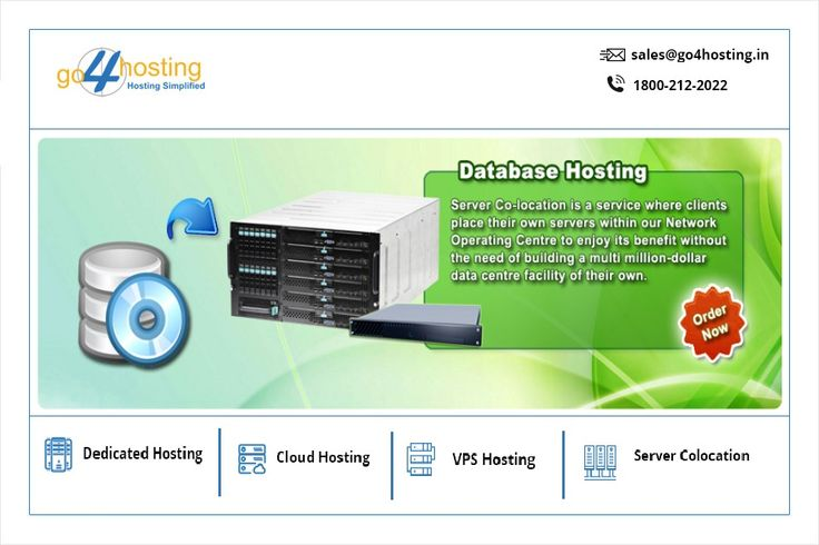 #Database #Hosting is designed to store collection of information in order to facilitate ease of accessing, managing, and updating data.  #Go4hosting #Datacenter #Meghdoot